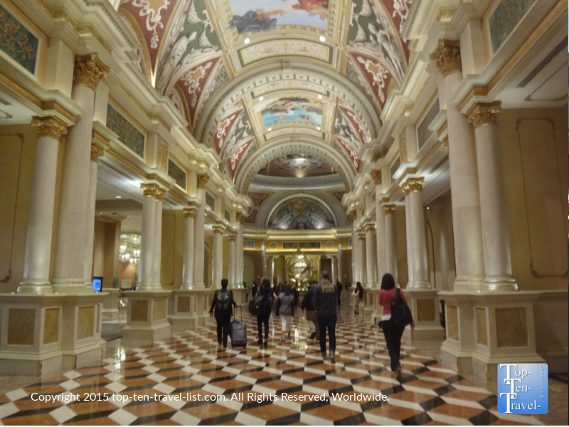 The gorgeous architecture and painted ceilings found at The Venetian in Las Vegas, Nevada
