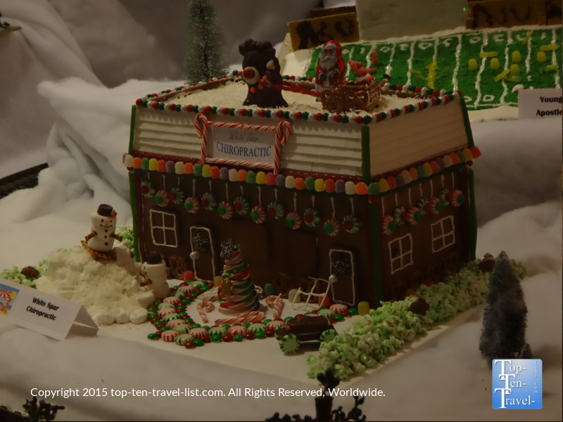 A fantatic gingerbread house creation at the Prescott Resort and Conference Center's annual gingerbread village display