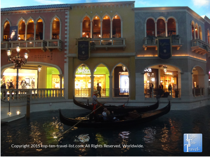 Romantic gondola rides at The Venetian in Las Vegas, Nevada