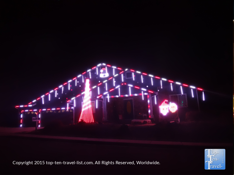 Synchronized light and music show in Flagstaff, Arizona