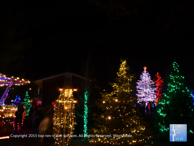 Pretty holiday lights at the Little America in Flagstaff, Arizona