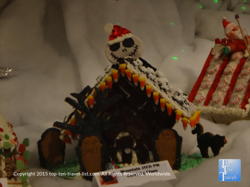 a nightmare before christmas inspired design at the prescott resort and conference centers annual gingerbread village - Nightmare Before Christmas Gingerbread House
