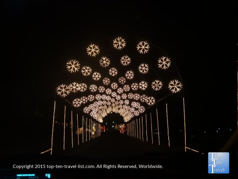 Snowflake tunnel at Prescott, Arizona's Valley of Lights
