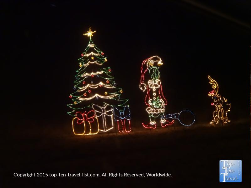 The Grinch display at Prescott, Arizona's Valley of Lights
