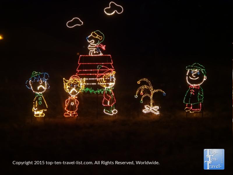 Peanuts display at Prescott, Arizona's Valley of Lights