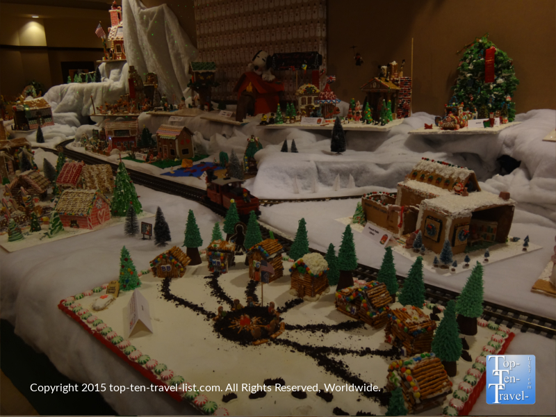 A beautiful gingerbread village at the Prescott Resort and Conference Center