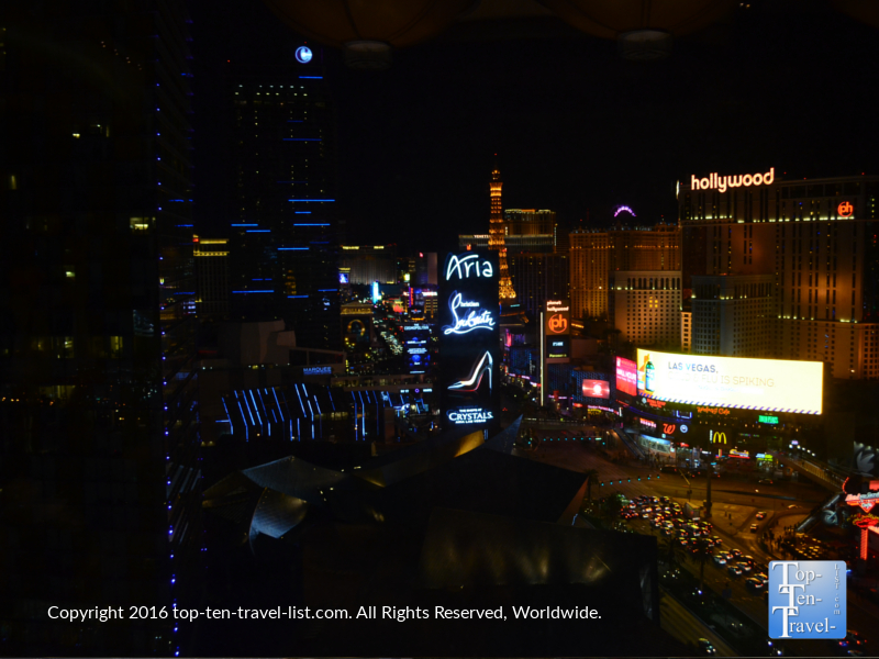 Amazing views of The Strip from the Mandarin Oriental Tea Lounge in Las Vegas, Nevada