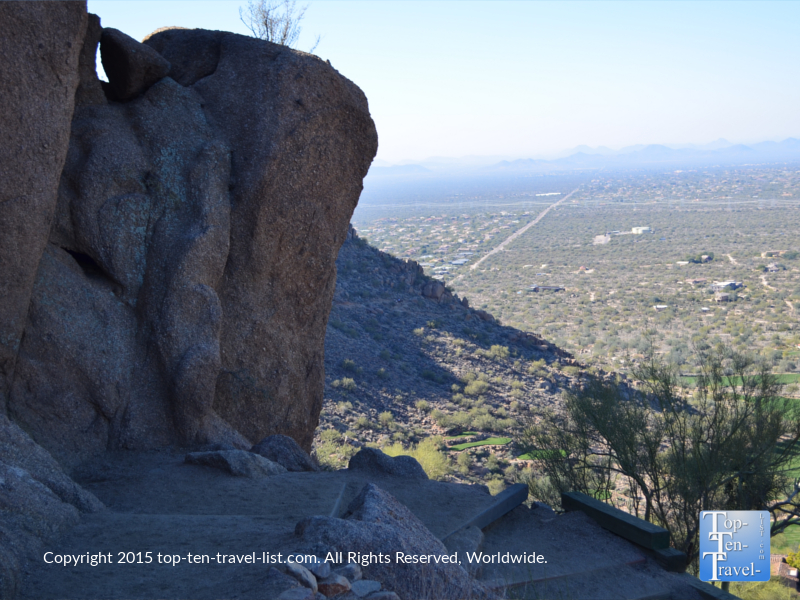 Climbing upstairs on the Pinnacle Peak trail in Scottsdale, Arizona