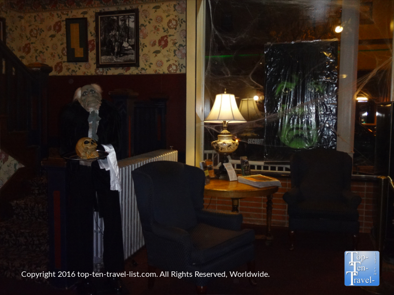 Cute Halloween decor at Charly's at The Weatherford in Flagstaff AZ