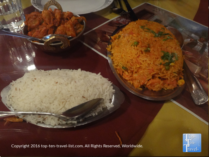 Delicious indian food at Dehli Palace in Flagstaff