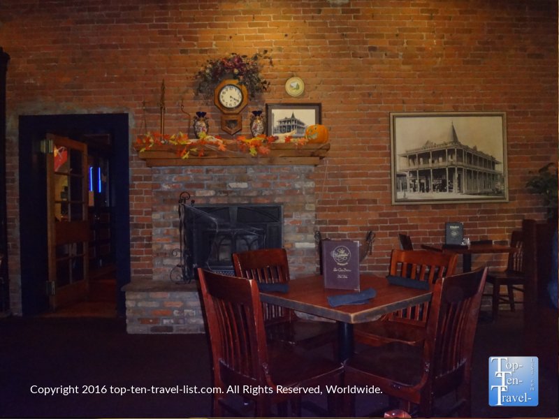Fireplace at Charly's at The Weatherford in Flagstaff AZ