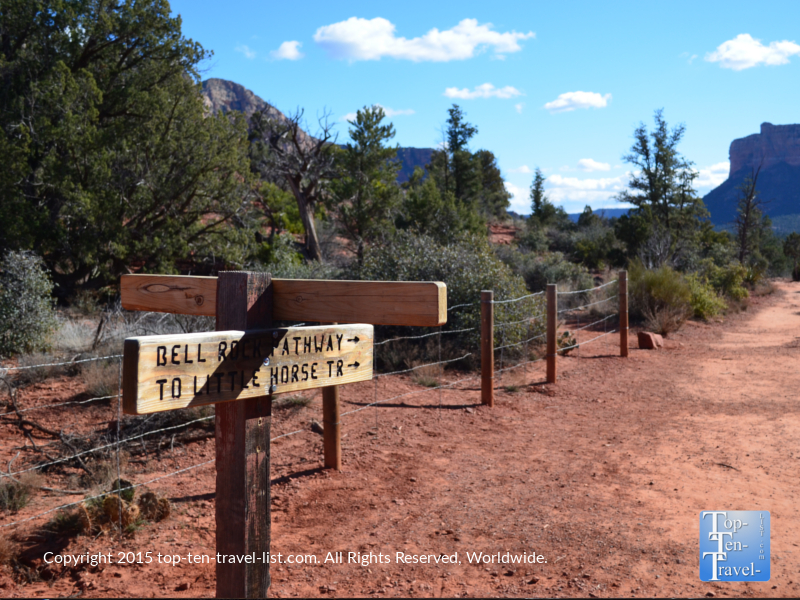 Little Horse trail sign in Sedona