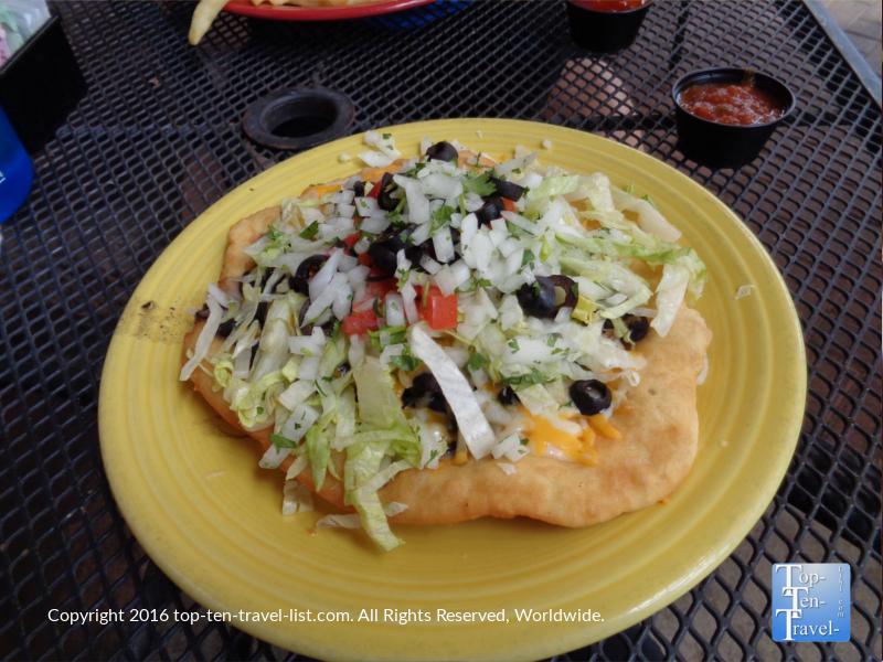 A delicious veggie Navajo Taco at Charly's.