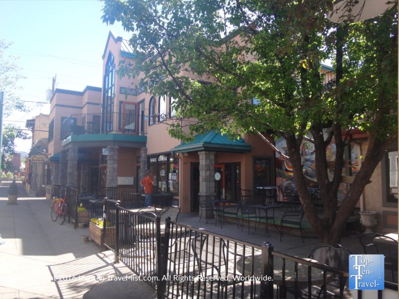 Flagstaff Brewing Company has a fantastic outdoor seating area, now if only they could step up their game and hire better baristas!