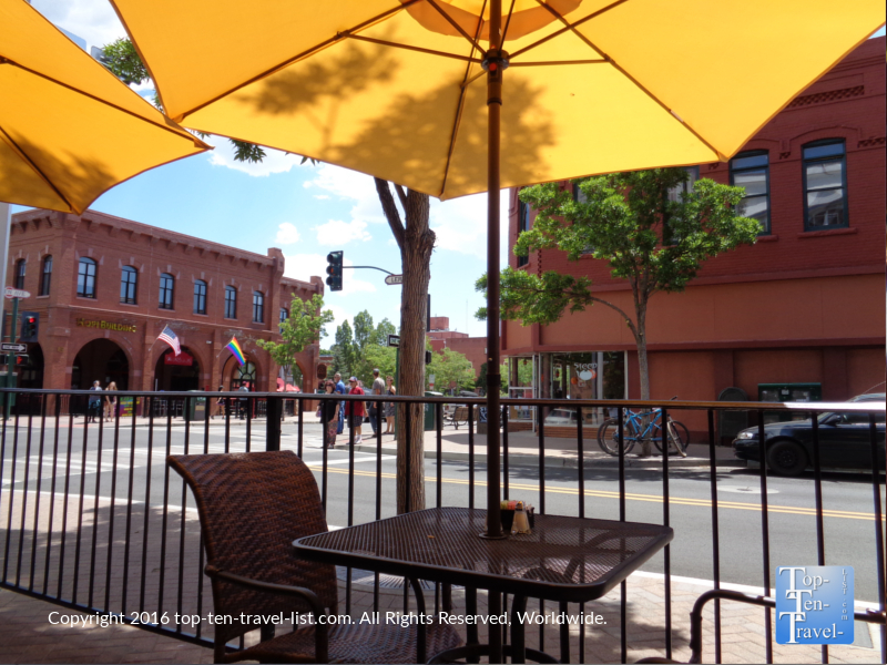 Charly's offers a shady outdoor patio with great overviews of the downtown. It's the perfect place to kick back after a full morning hiking!