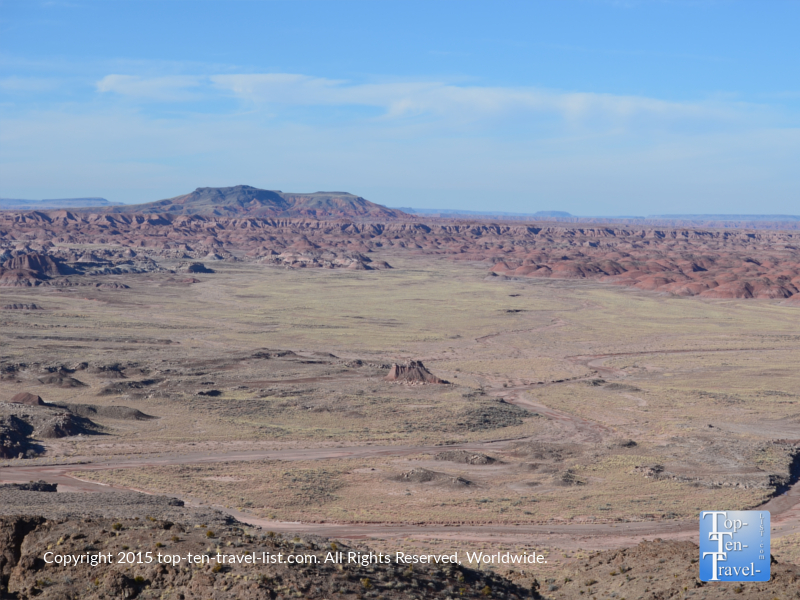 Amazing views of the Painted Desert from Petrified National Forest