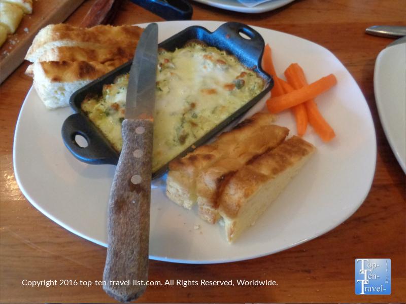 Picazzos Flagstaff spinach artichoke dip