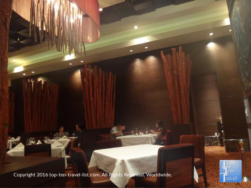 The romantic setting at Zenith Steakhouse in Flagstaff, Arizona