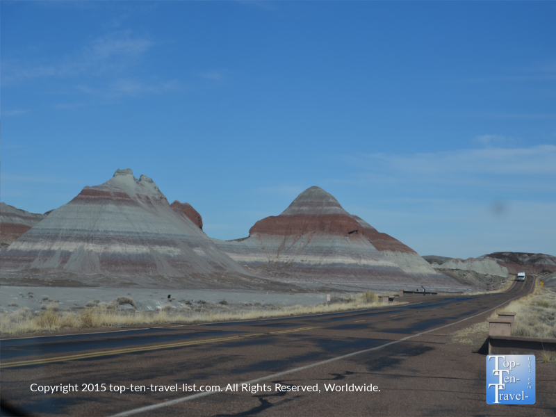 Scenic drive at the Petrified National Forest