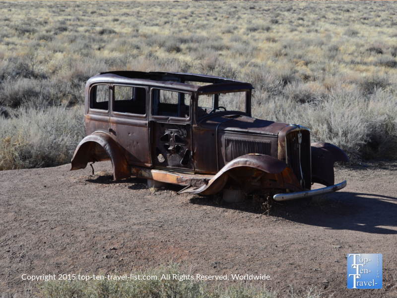 A 1932 Studebaker at the old Route 66 at Petrified National Forest