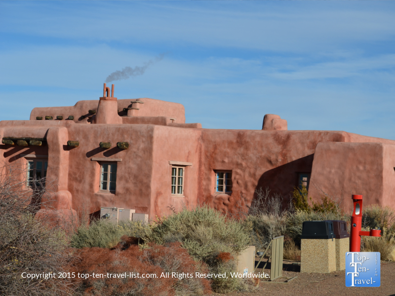 The historic Painted Desert Inn within the Petrified National Forest