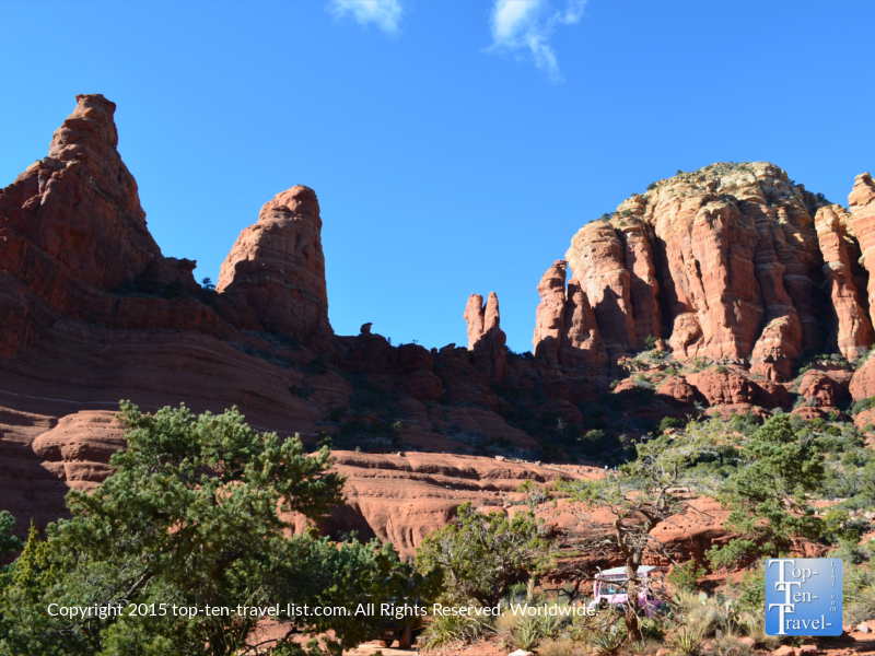 Views at Chicken Point at the end of Little Horse Trail in Sedona
