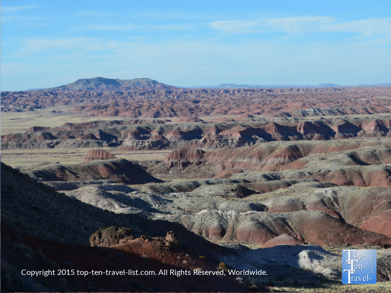 Scenic views while hiking in the Petrified Forest National Wilderness Area