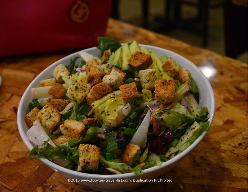 A delicious, healthy salad at Mix in Flagstaff, Arizona