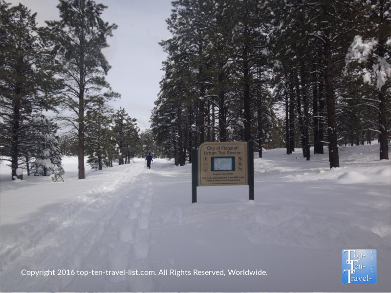 Winter views along the Flagstaff Urban Trail System at Fort Tuthill Park
