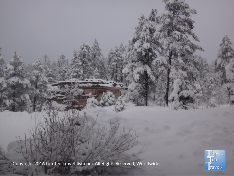 Gorgeous views at Pumphouse wash in Kachina Village, Arizona after a winter storm