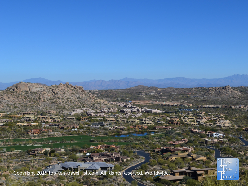 Amazing views of Scottsdale from the Pinnacle Peak Trail in Scottsdale, Arizona