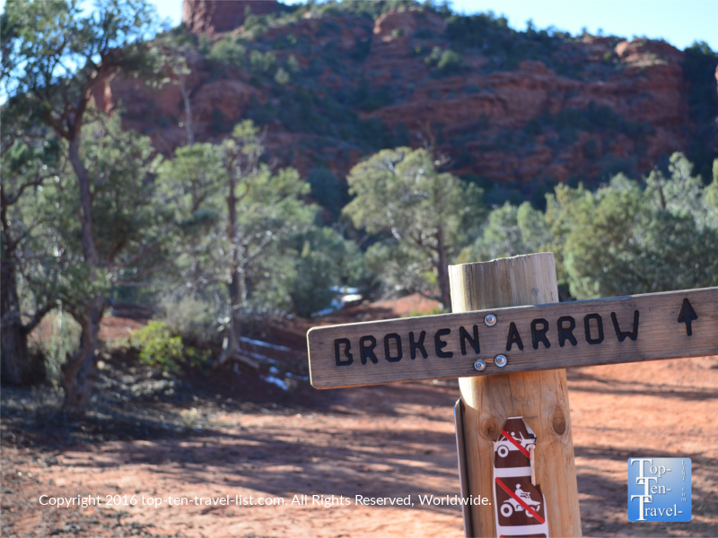 Broken Arrow hiking trail in Sedona, Arizona