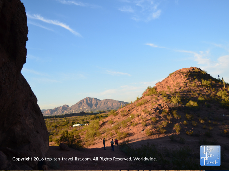 Pretty views from Papago Park in Phoenix, Arizona