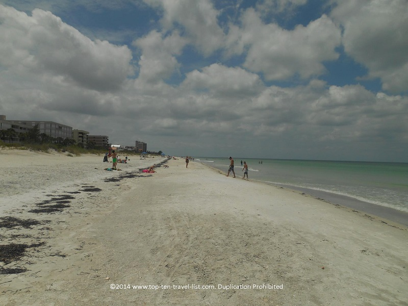 Indian Rocks is one of the quietest and most scenic of the Gulf Coast beaches.