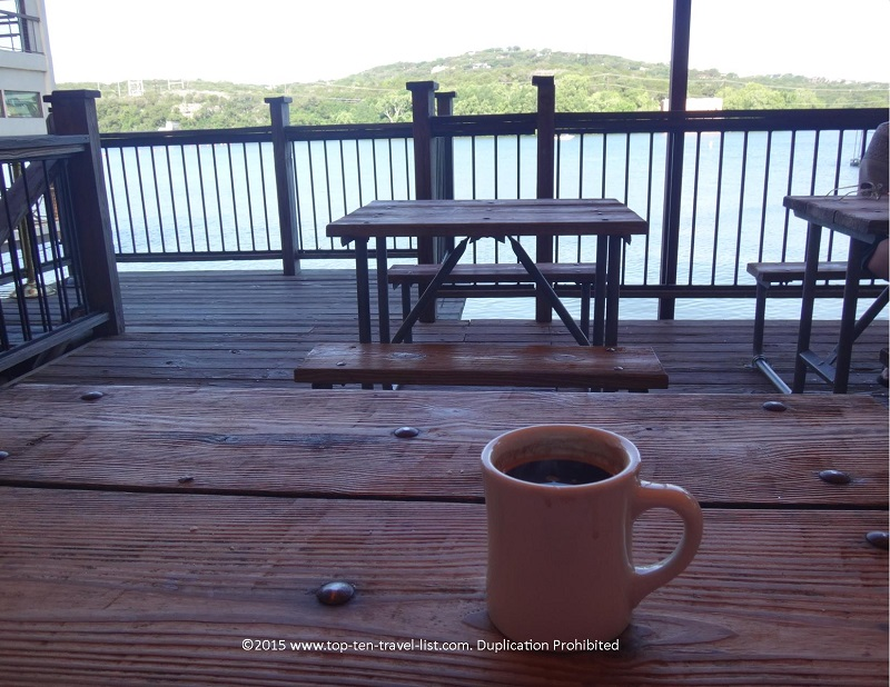 Bottomless coffee with a view! Can't top that!