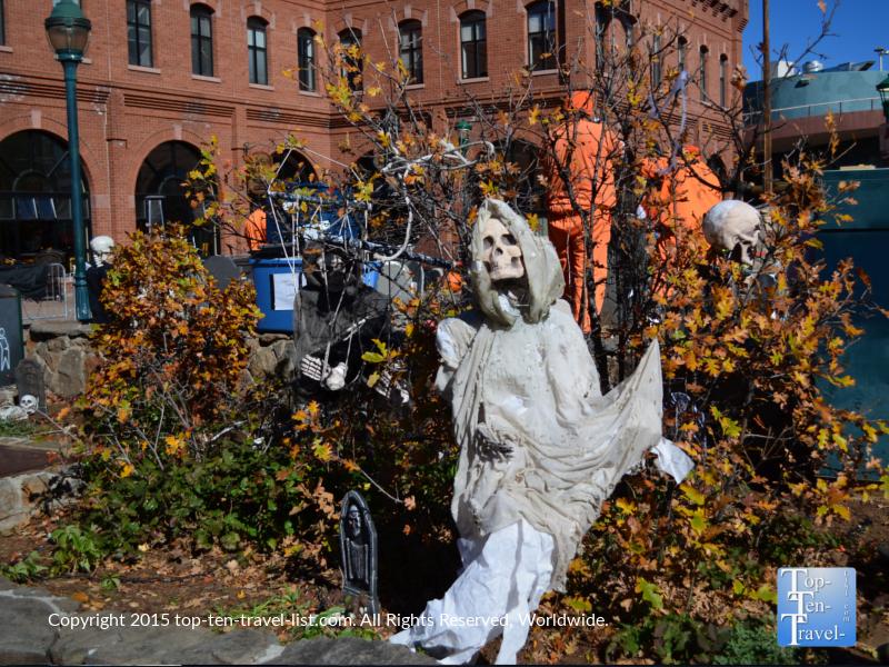 Halloween decor in downtown Flagstaff, Arizona