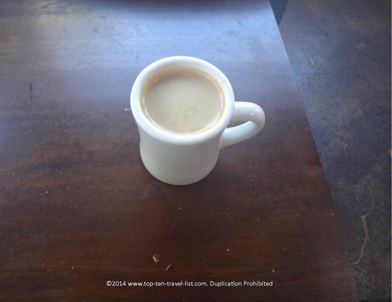 A delicious Americano at Indian Shores Coffee Company in Indian Shores, Florida