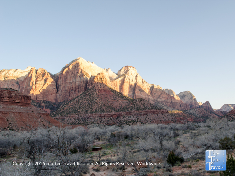 A beautiful overlook along the Watchman Trail at Zion National Park