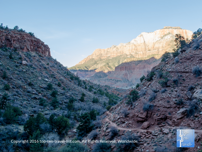A morning hike along the Watchman Trail at Zion National Park