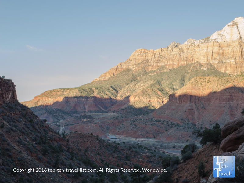 Gorgeous morning views along the Watchman Trail at Zion National Park