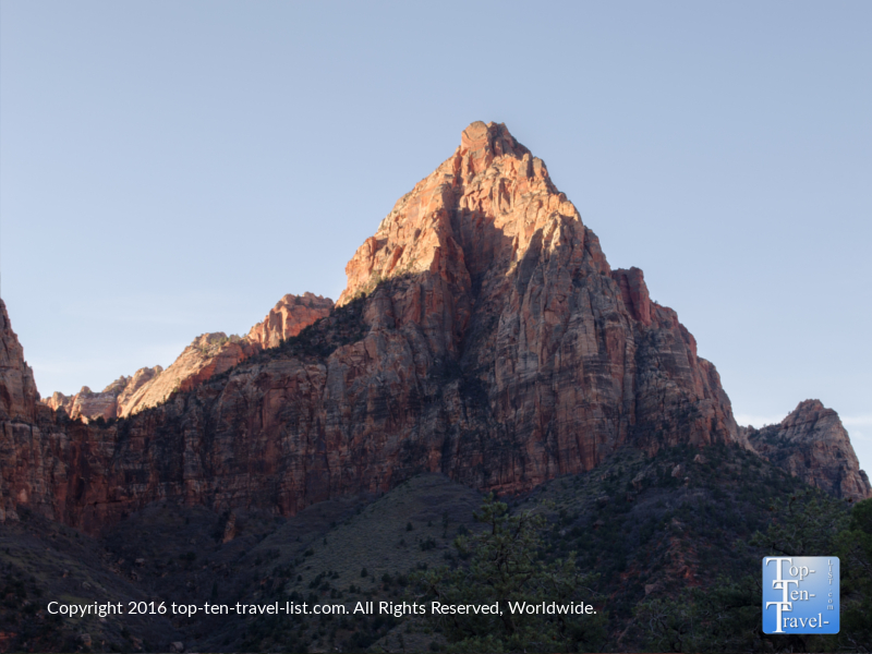 Great views of the Watchman Tower from the Watchman Trail at Zion