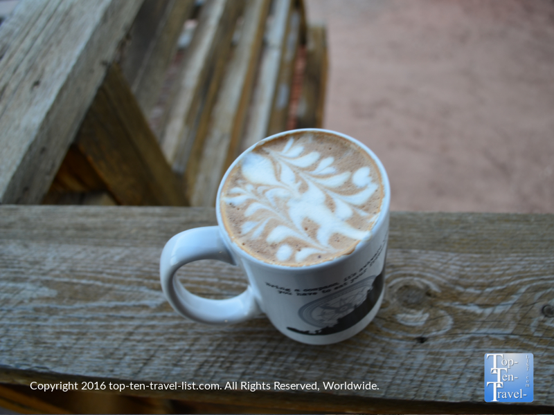 Mocha at Deep Creek Cofee Shop in Springdale Utah