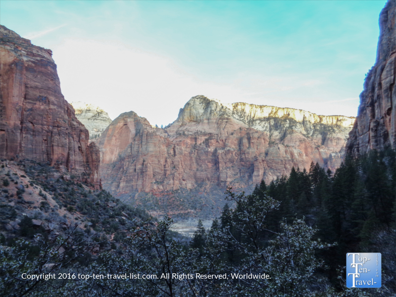Scenic views along the Emerald Pools trail at Zion National Park