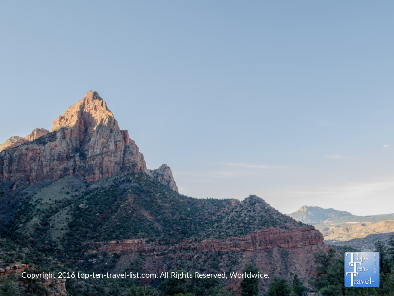 Stunning views of Watchman Tower at Zion National Park