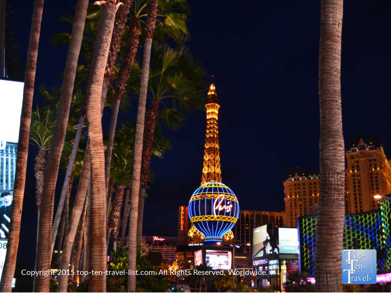 Typically the best bang for your buck deals can be found at the center Strip hotels. Pictured here is the Paris, Flamingo, and Bally's, all conveniently located within walking distance from The best Strip attractions.