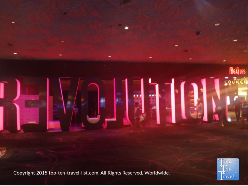 The Beatles themed Revolution Bar inside The Mirage Casino Resort in Las Vegas, Nevada