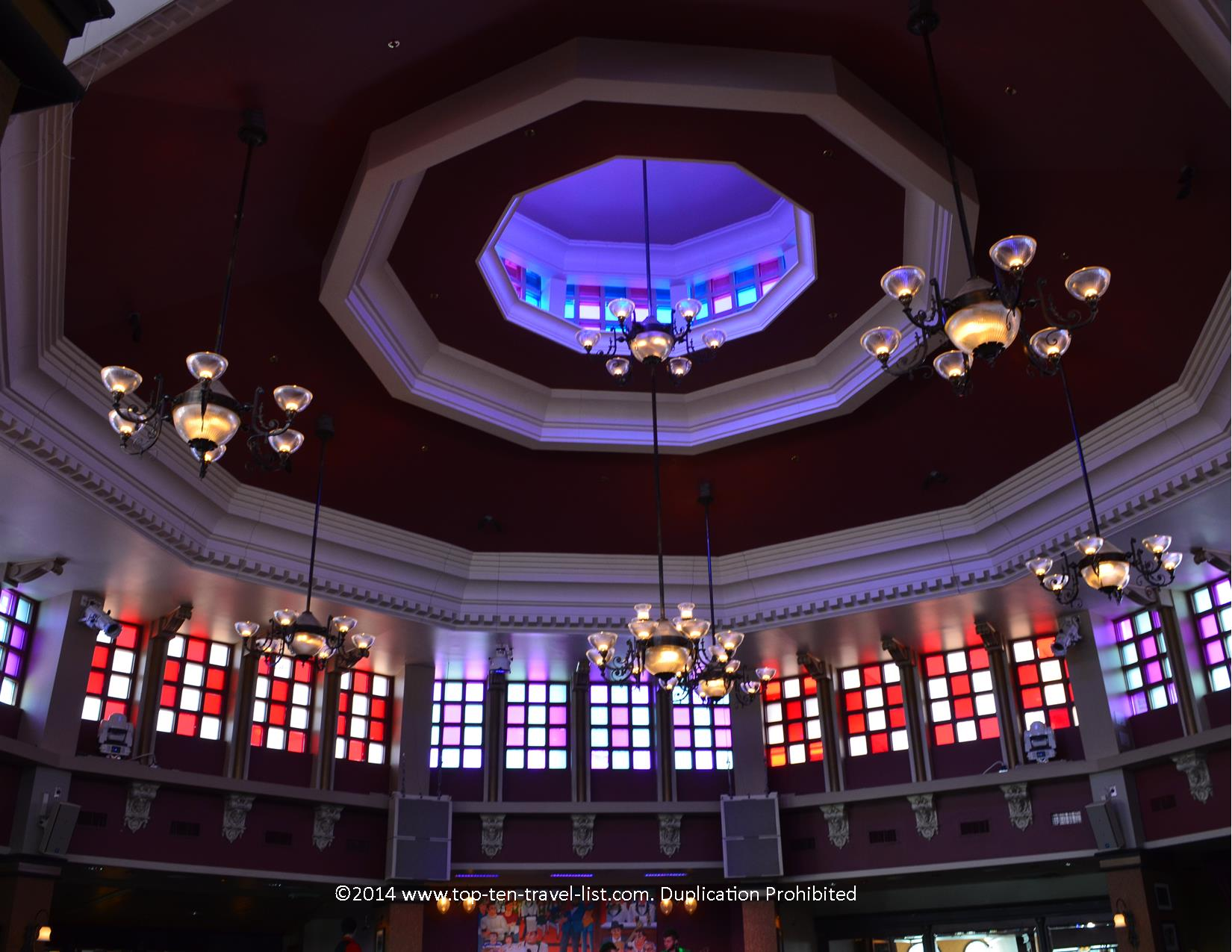 Beautiful domed ceilings of Ragland Road - Downtown Disney in Orlando, Florida
