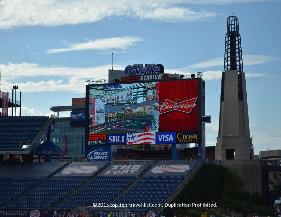 Gilette Stadium home of the New England Patriots