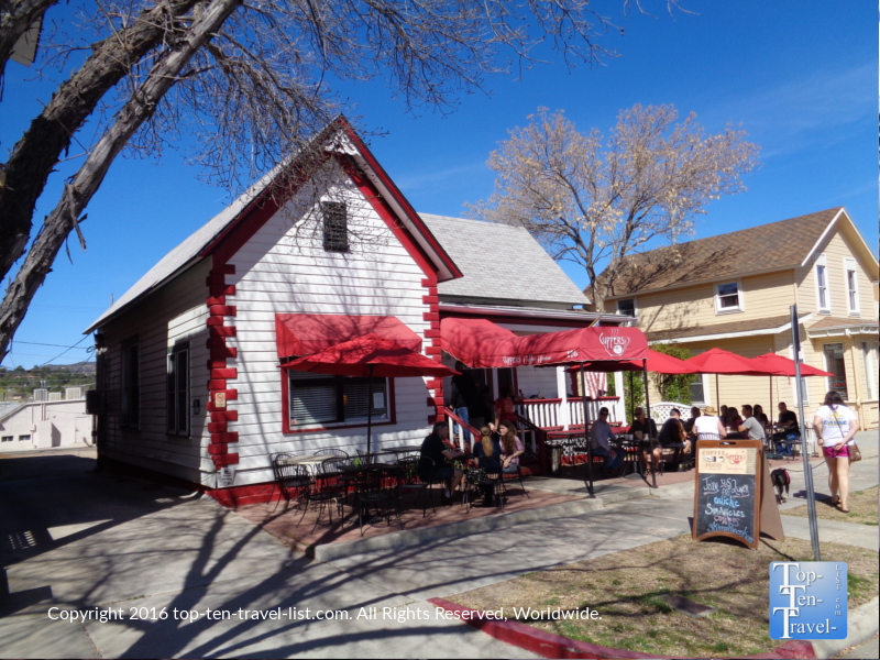 Cuppers Coffeehouse in downtown Prescott, Arizona