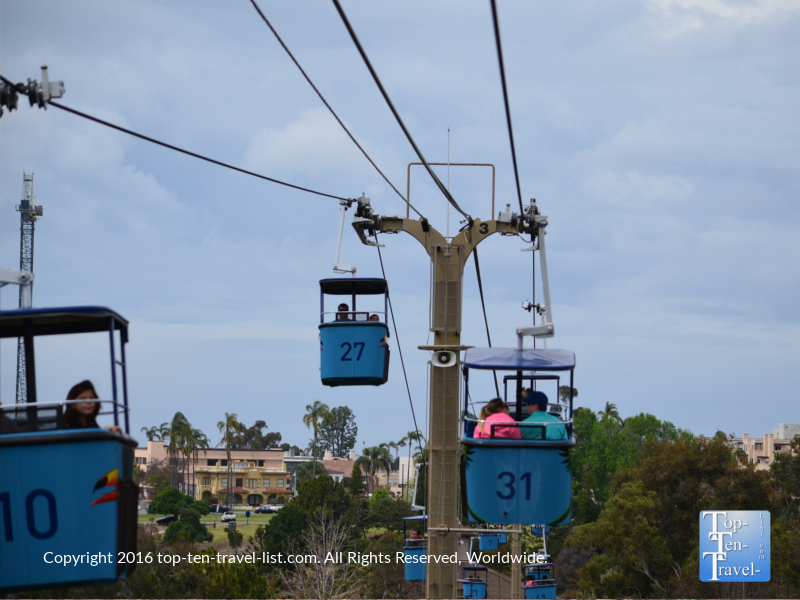 Fun and scenic sky ride at the San Diego Zoo